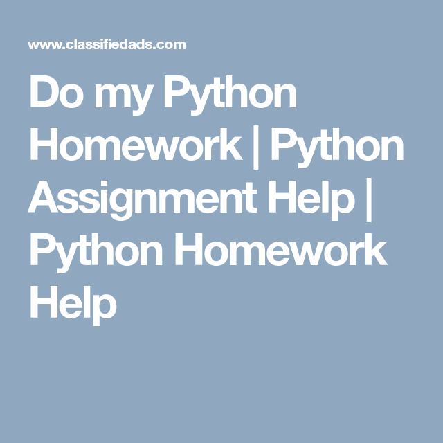 do my python homework