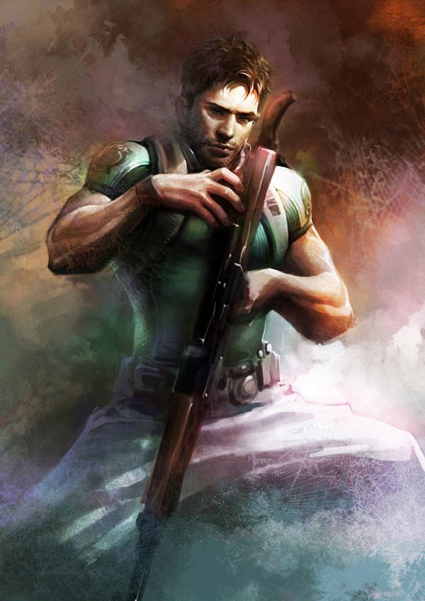Resident Evil 5 Chris Redfield By Richard Michaud Resident