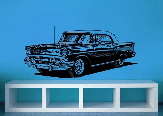 1950s Decor, Classic Cars, Chevy Decal, Chevy Decor
