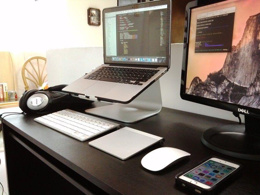 Macbook Pro Workstation Setup Of A Software Engineer Macbook Pro Setup Mac Setup Desk Setup