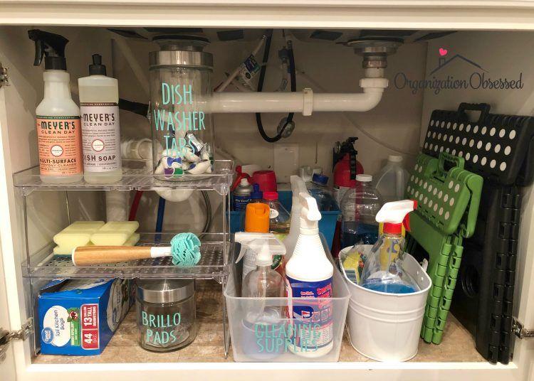 15 Genius Under The Kitchen Sink Organization Ideas Organization Obsessed Under Kitchen Sinks Kitchen Sink Organization Under Kitchen Sink Organization