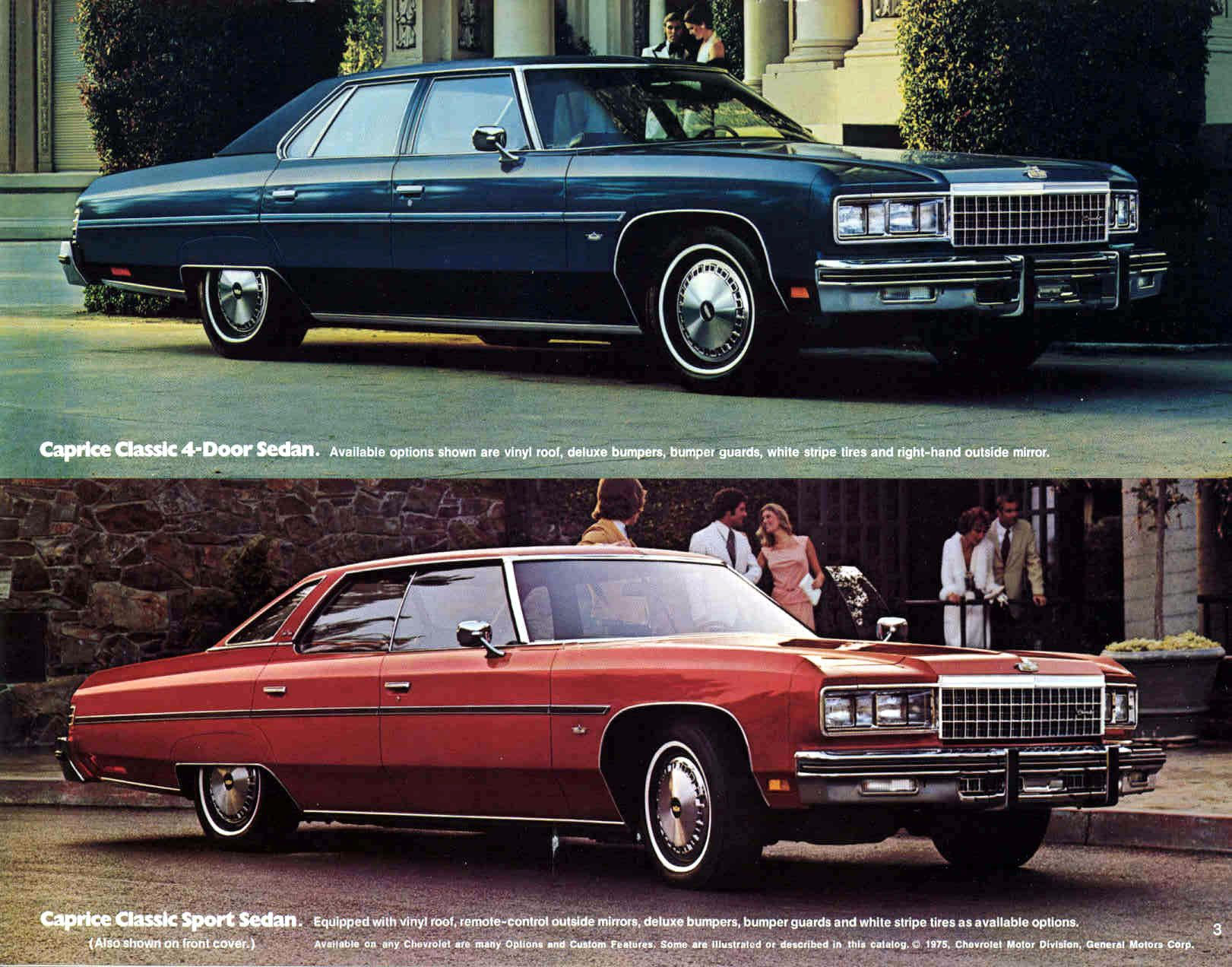 1976 Chevrolet Caprice Classic 4 Door Sedan And Sport Sedan Caprice Classic Chevrolet Caprice Chevrolet