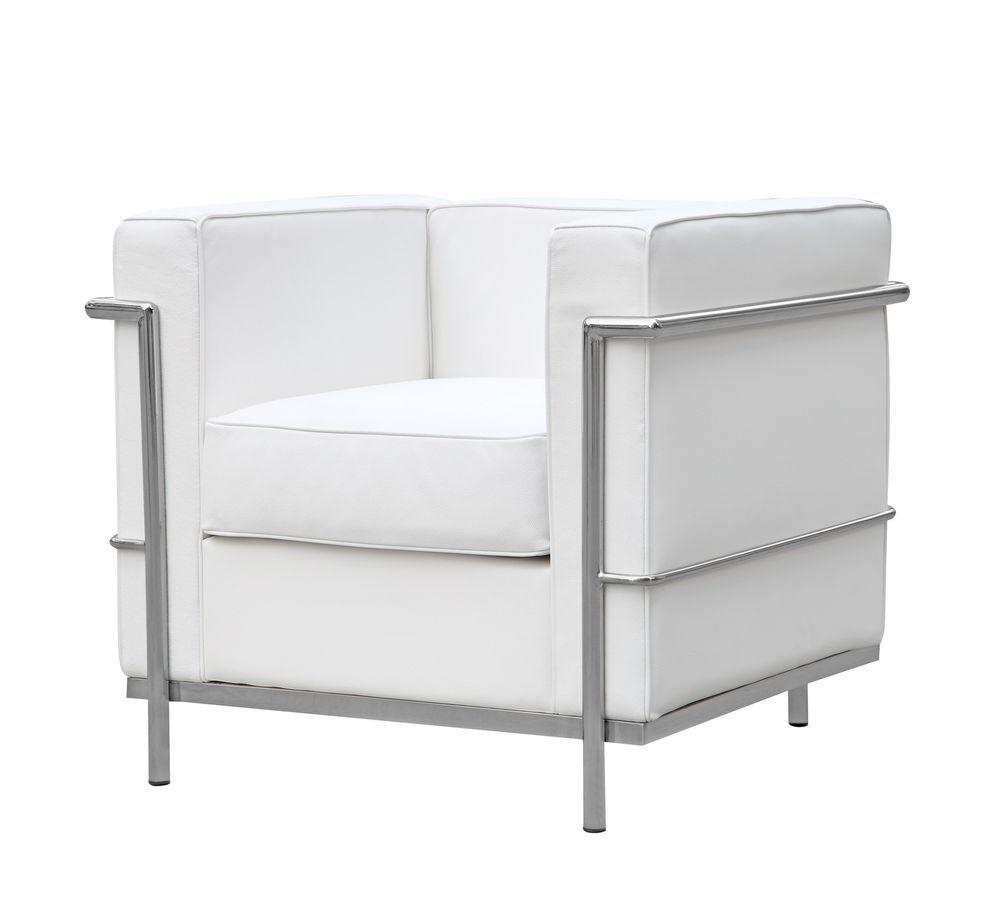 Cube Le Corbusier Lc2 Style Petit Chair White Modern Corbusier