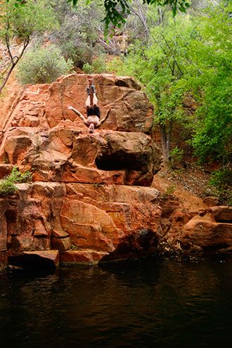 Bull Pen Swimming Hole on West Clear Creek | Northern AZ