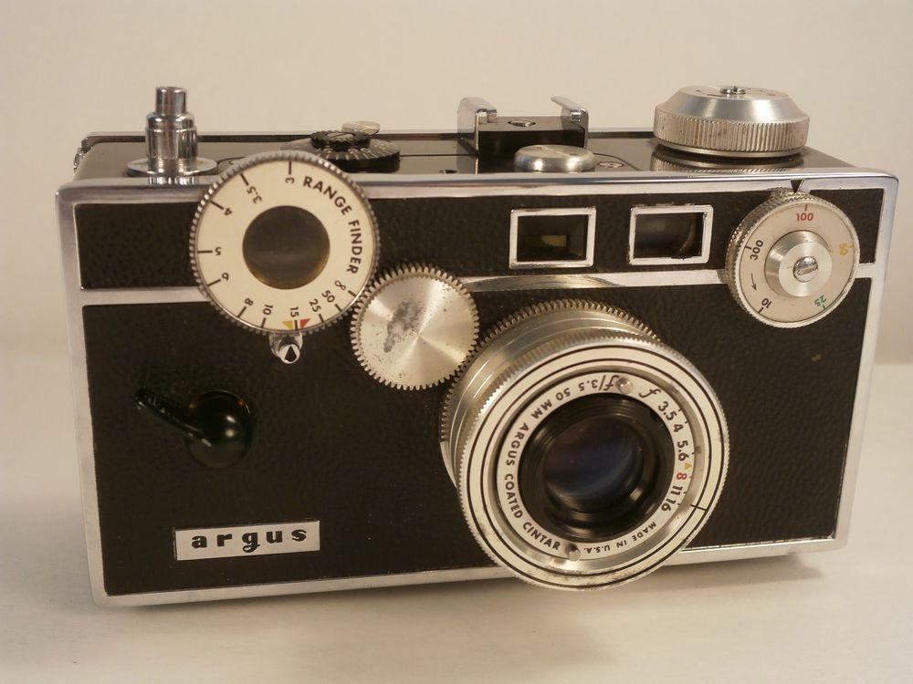 vintage argus rangefinder brick camera original case manual 3 5 rh pinterest co uk Argus C3 Camera Old Argus Camera Values