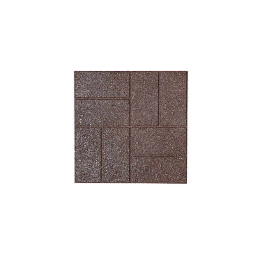 Rubberific Brown Square Rubber Paver Common 16 In X 16 In