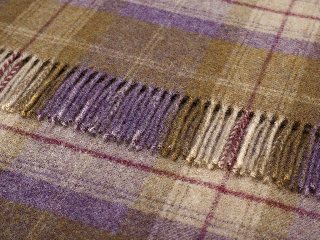Shetland Grape Skye Check Throw
