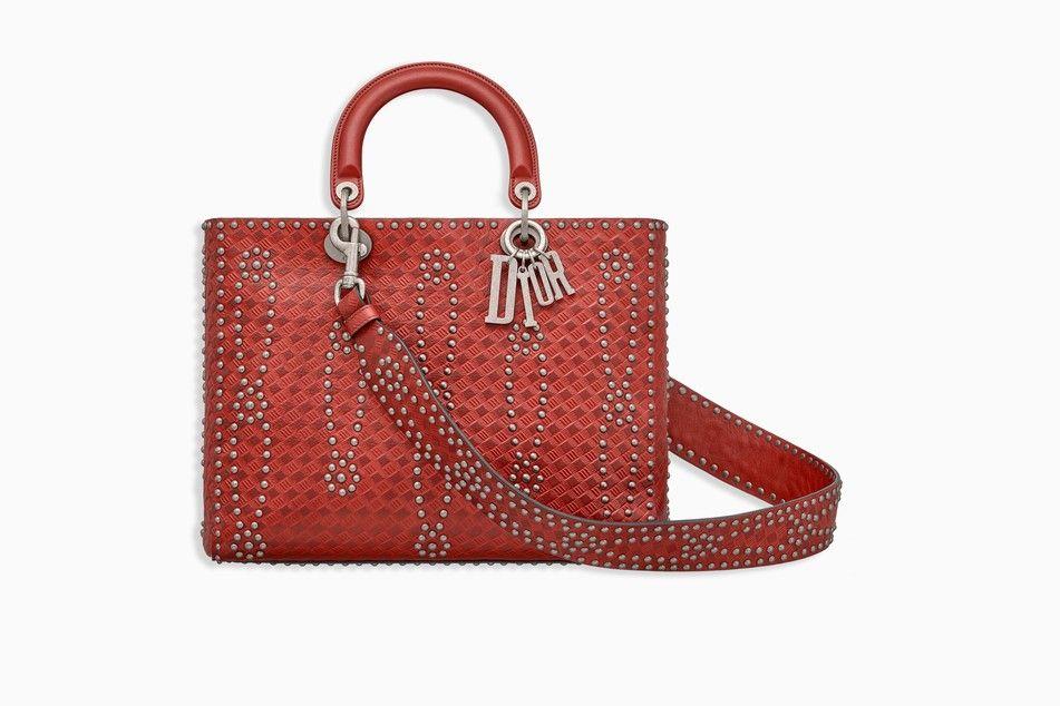 8f0d4b4751 LARGE LADY DIOR BAG IN RED STUDDED CALFSKIN - Lady Dior Dior | Dior ...