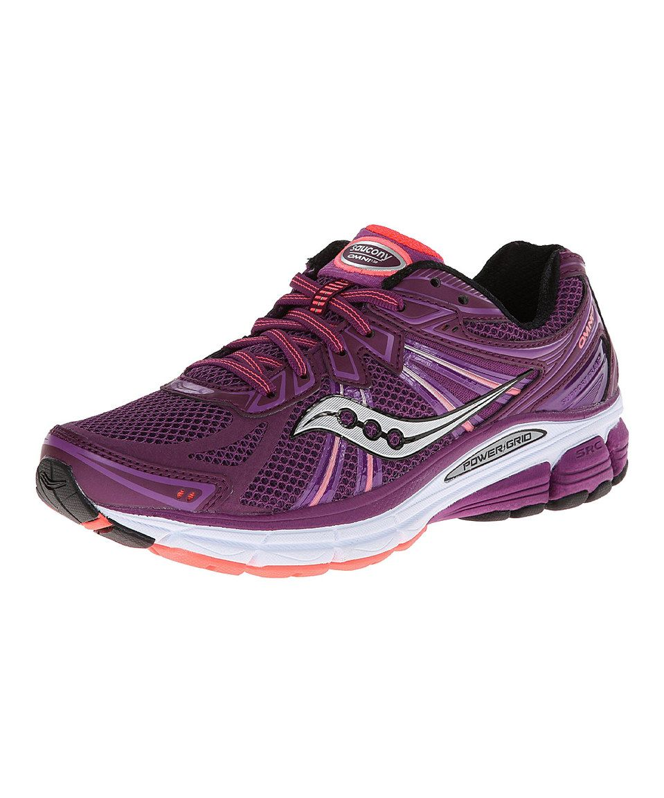 Another great find on #zulily! Saucony Purple & Coral Omni 13 Running Shoe by Saucony #zulilyfinds