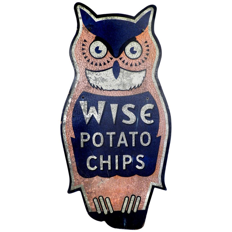 Large early wise owl sign folk art s and antiques