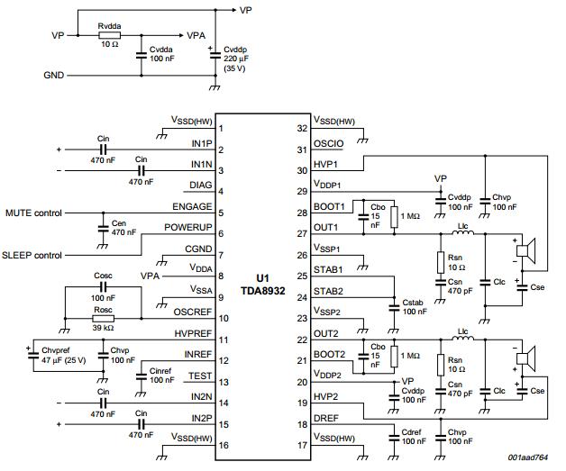 tda8932 ����� ��������� 2x15 �� - www amplifiercircuit info