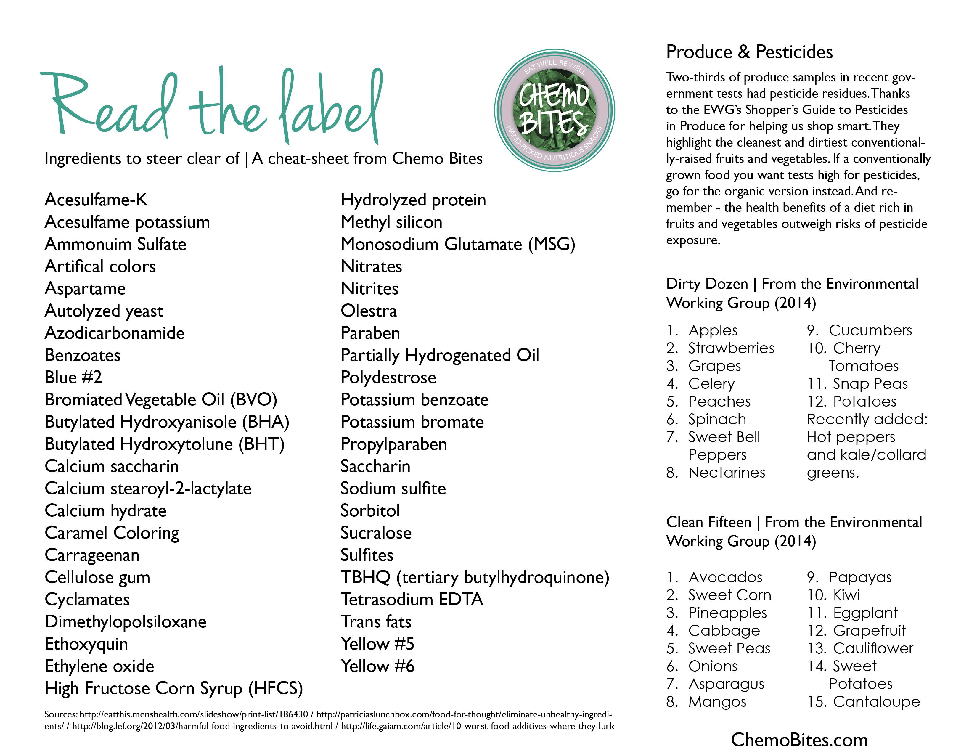 be a smart and healthy consumer by learning to read ingredients on