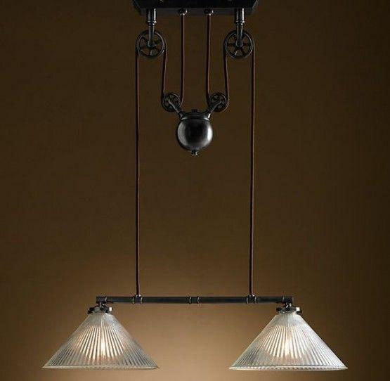 industrial inspired lighting. Vintage Industrial Inspired Lighting   Double Pendant Light .