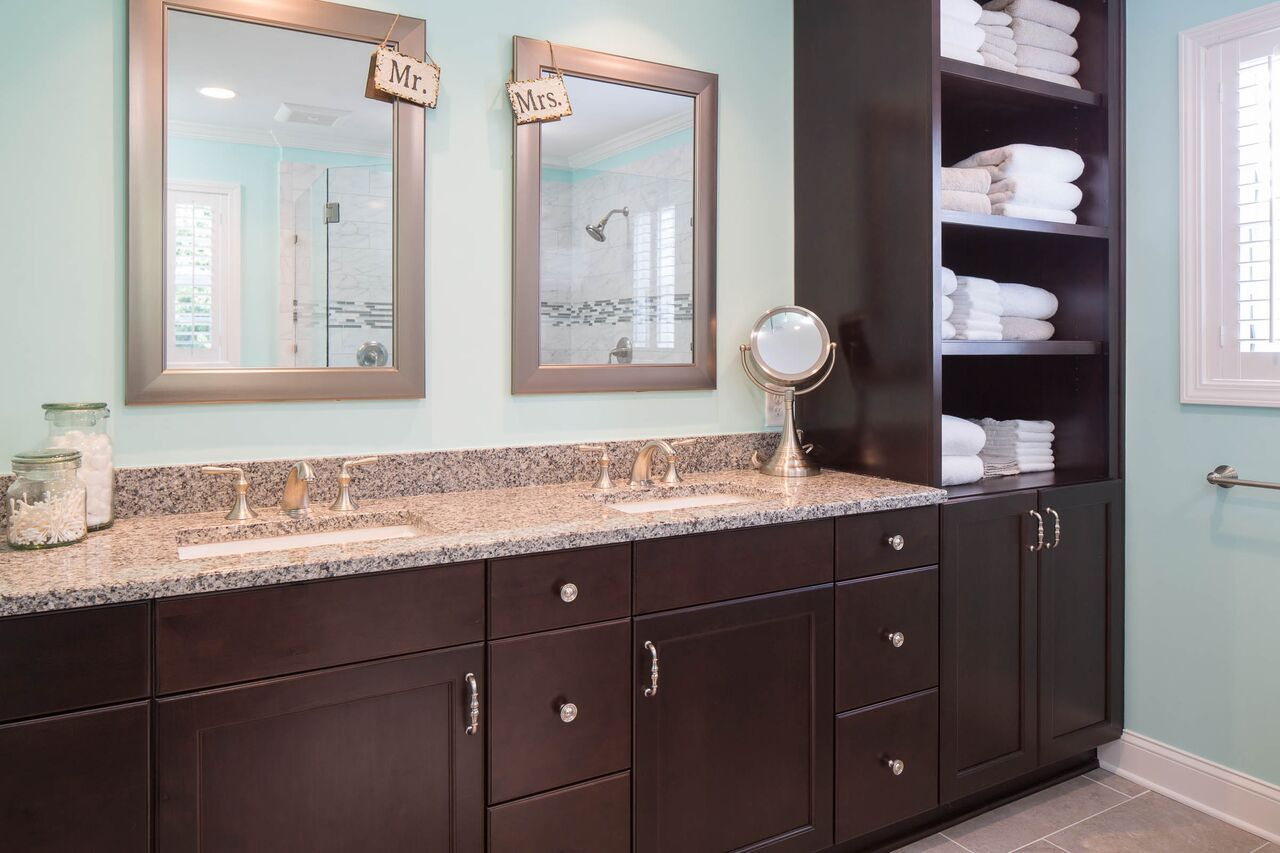 This relatively small master bathroom is only 100 square feet and ...