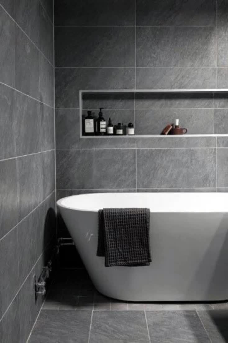 No Fifty Shades references here; grey is a color for the adult who's done playing games.With its subtle sophistication that hints of a life of understated luxury and upscale seclusion, it's no small wonder that gray is the color of choice in the true gentleman's bathroom. #nextluxury #homedesign #homedecor #homedecorideas