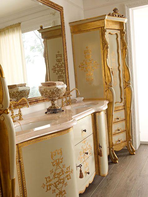 Italian classic luxury handmade bathroom furniture by andrea fanfani italian luxury handmade - Armadietti da bagno ...