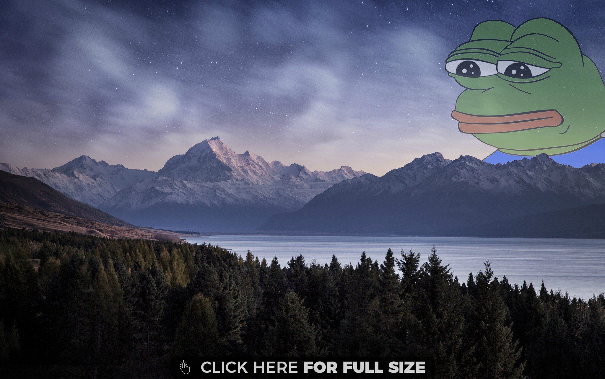 Nightfall In The Rocky Mountains Wallpaper Frog Wallpaper Wallpaper Backgrounds Meme Background