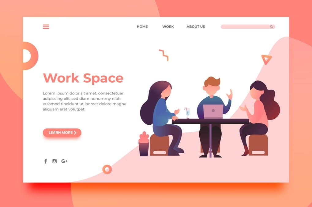 Work Space - Landing Page by surotype on Envato Elements