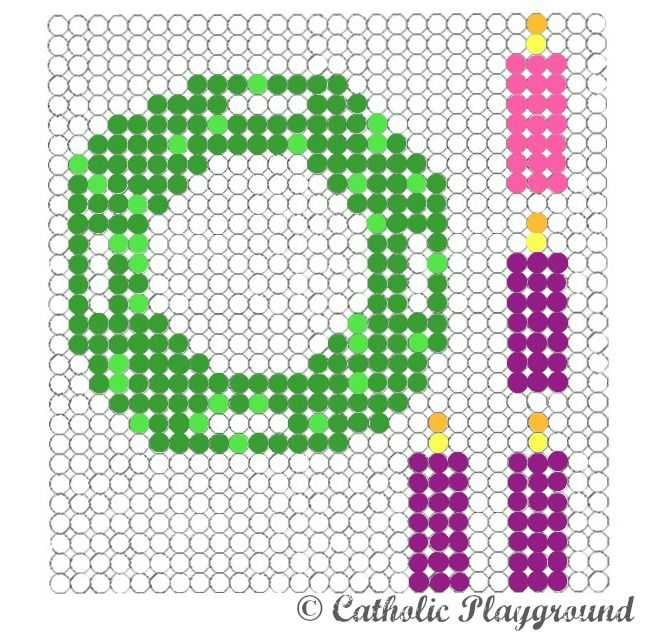 Photo of Use this free printable template to make your own Advent wreath out of perler (o …