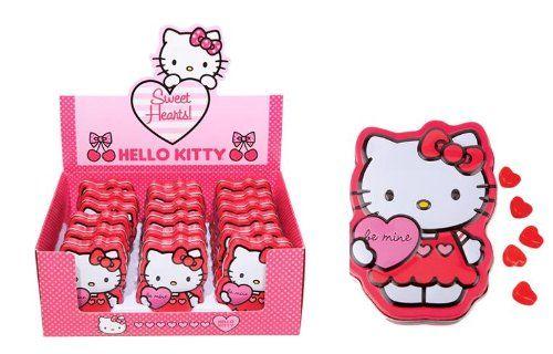 Hello Kitty Sweet Hearts Candy Tin x 18 (1 box) Hello