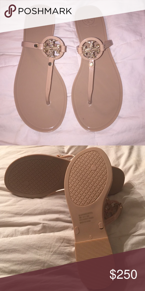 69b3c74818b4 Flip Flops · BNIB TORY BURCH Mini Miller Jelly Thong w CRYSTALS CRYSTAL  LIMITED EDITION NO LONGER AVAILABLE!