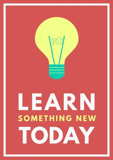 Design Classroom Posters ~ Learn something today lightbulb classroom poster flyer