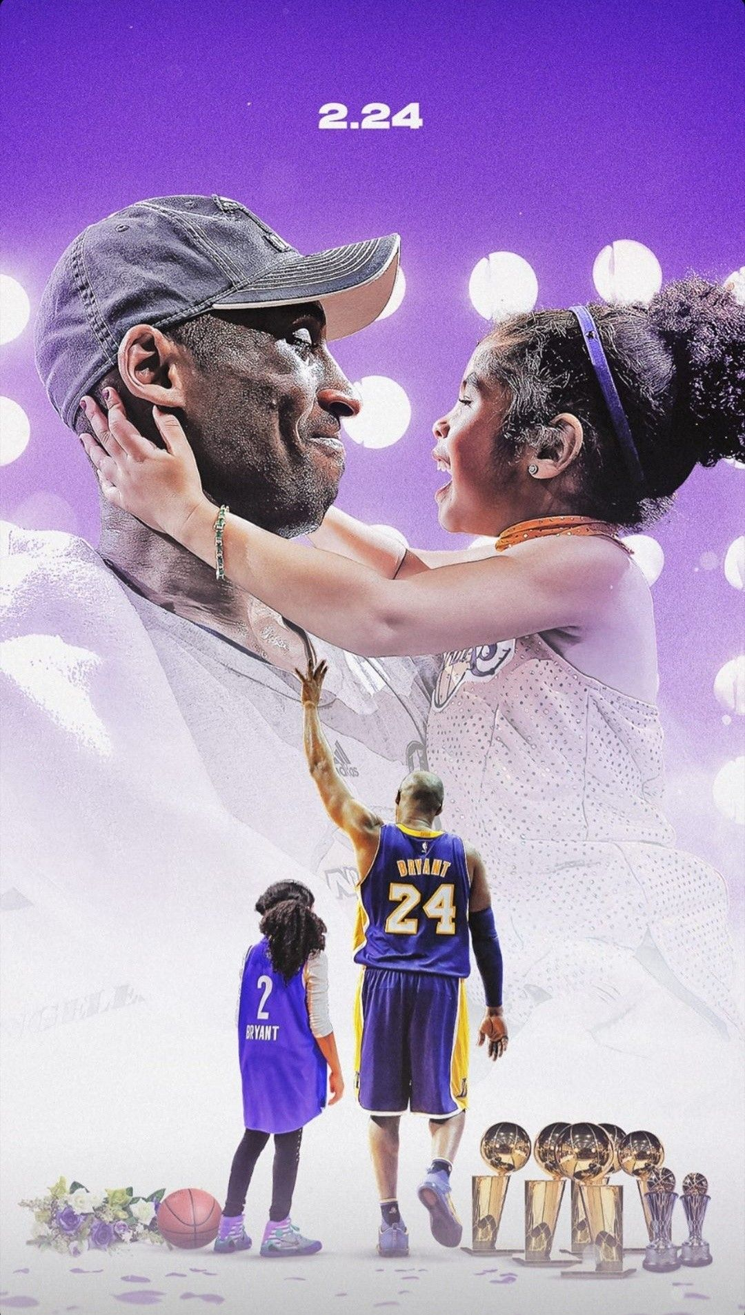 Kobe And Gigi Bryant Wallpaper In 2020 Kobe Bryant Pictures Kobe Bryant Wallpaper Lakers Kobe Bryant