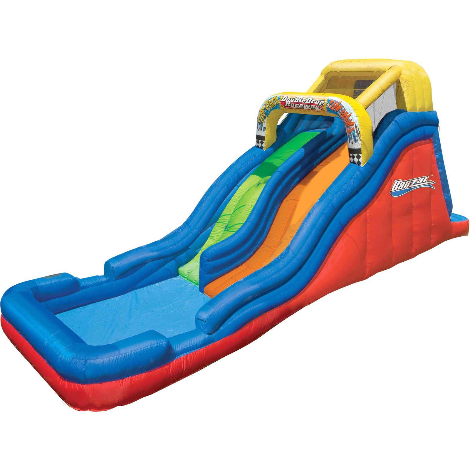 Inflatable Double Water Slide Racing Splash Pool