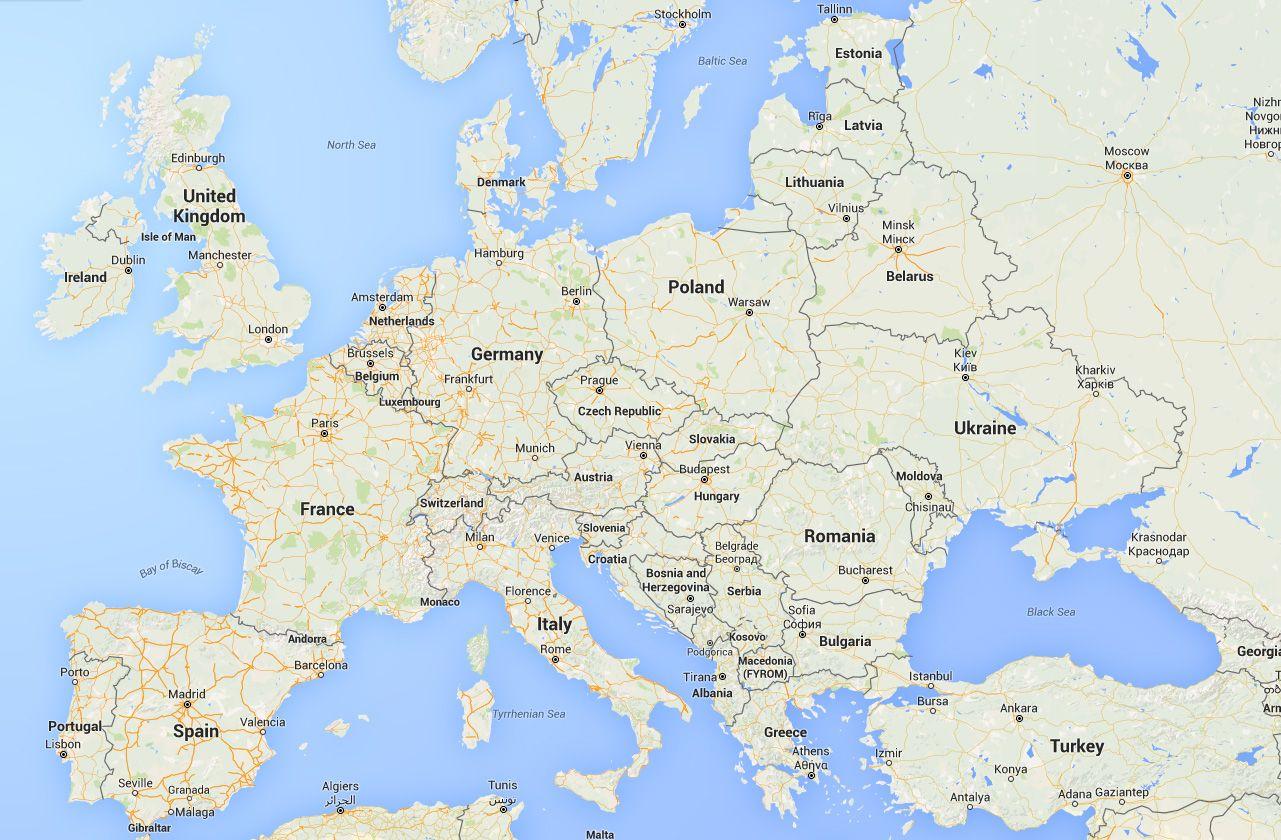Download Europe Google Maps Throughout Belgium Germany World