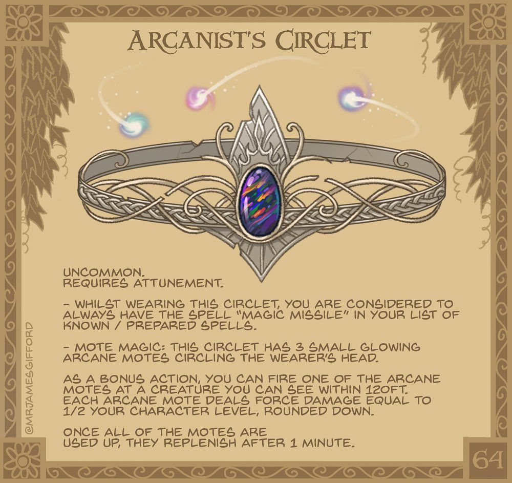 James Gifford On Instagram 64 Arcanist S Circlet Affixed With