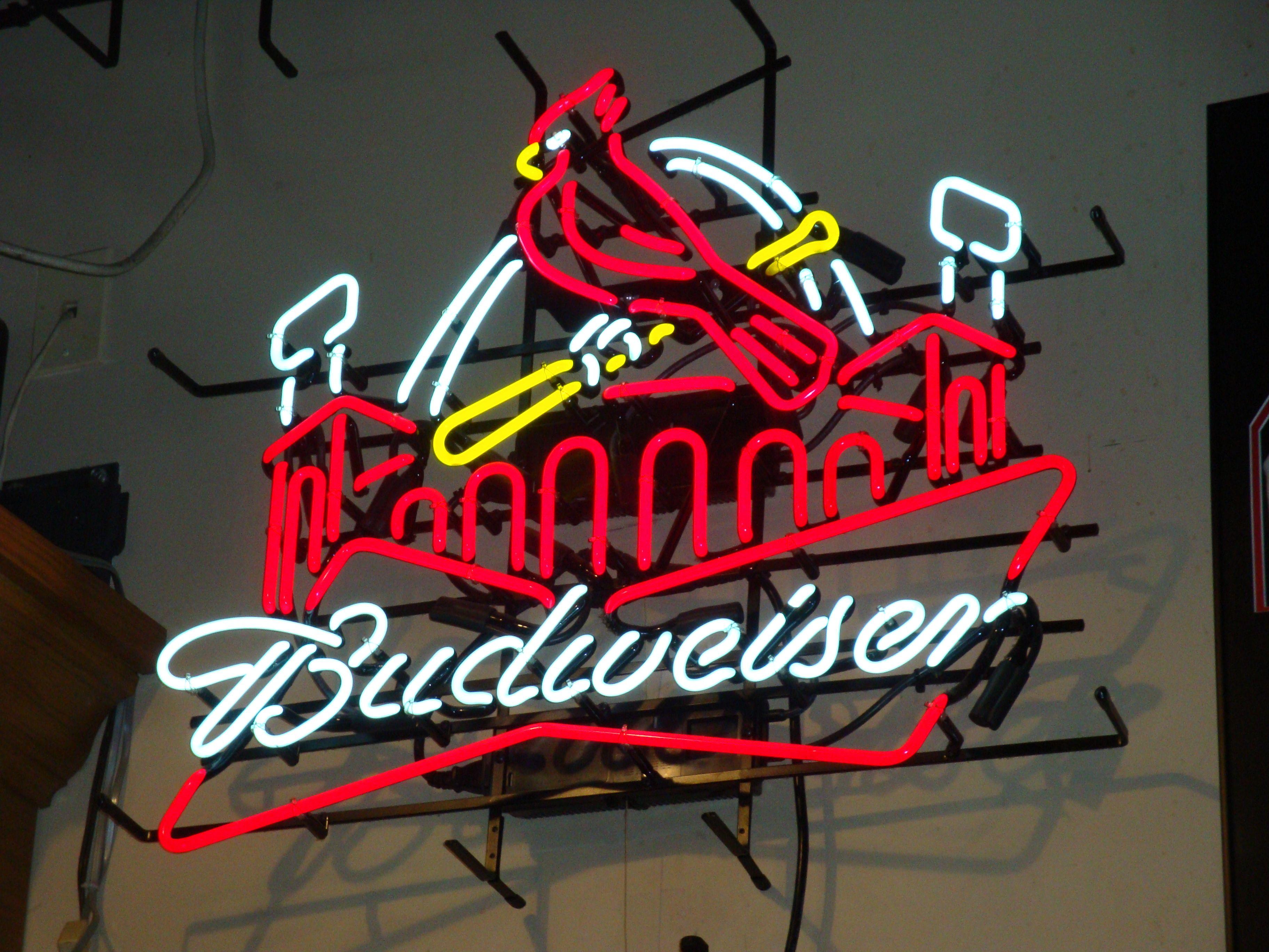 Beer Sign Budweiser St Louis Cardinals Baseball