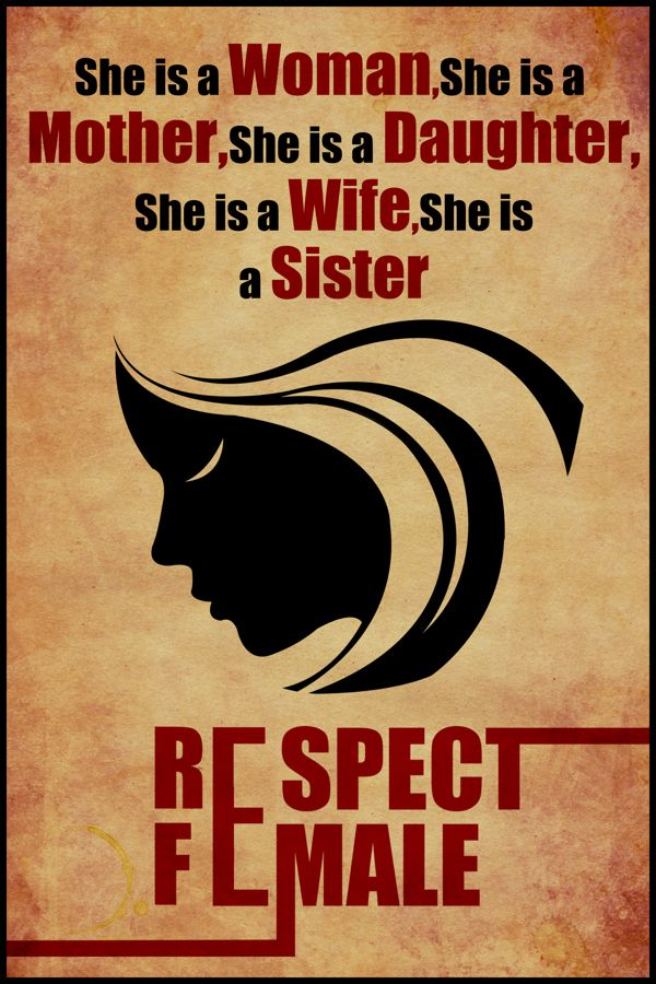 respect female poster design by abhishek aggarwal a k a