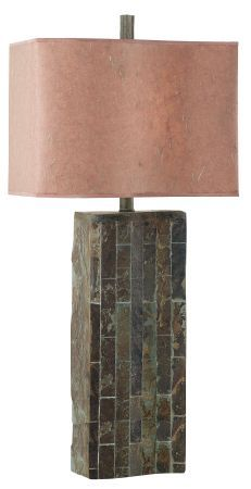 Kenroy Home Ripple Ripple Table Lamp in Natural Slate Finish