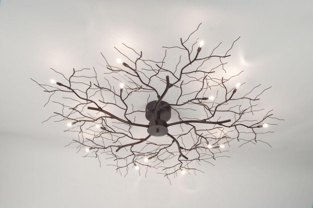 Lampen Inclusief 10 X 10 Watt 12 Volt Plafondlamp Takkenbos Bruin Brons Plafondlamp Plafondlamp Hanglamp Vloerlamp