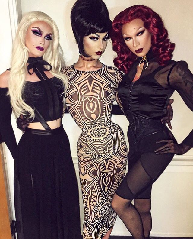 Pearl, Violet Chachki and Miss Fame | Queen outfit, Violet chachki ...