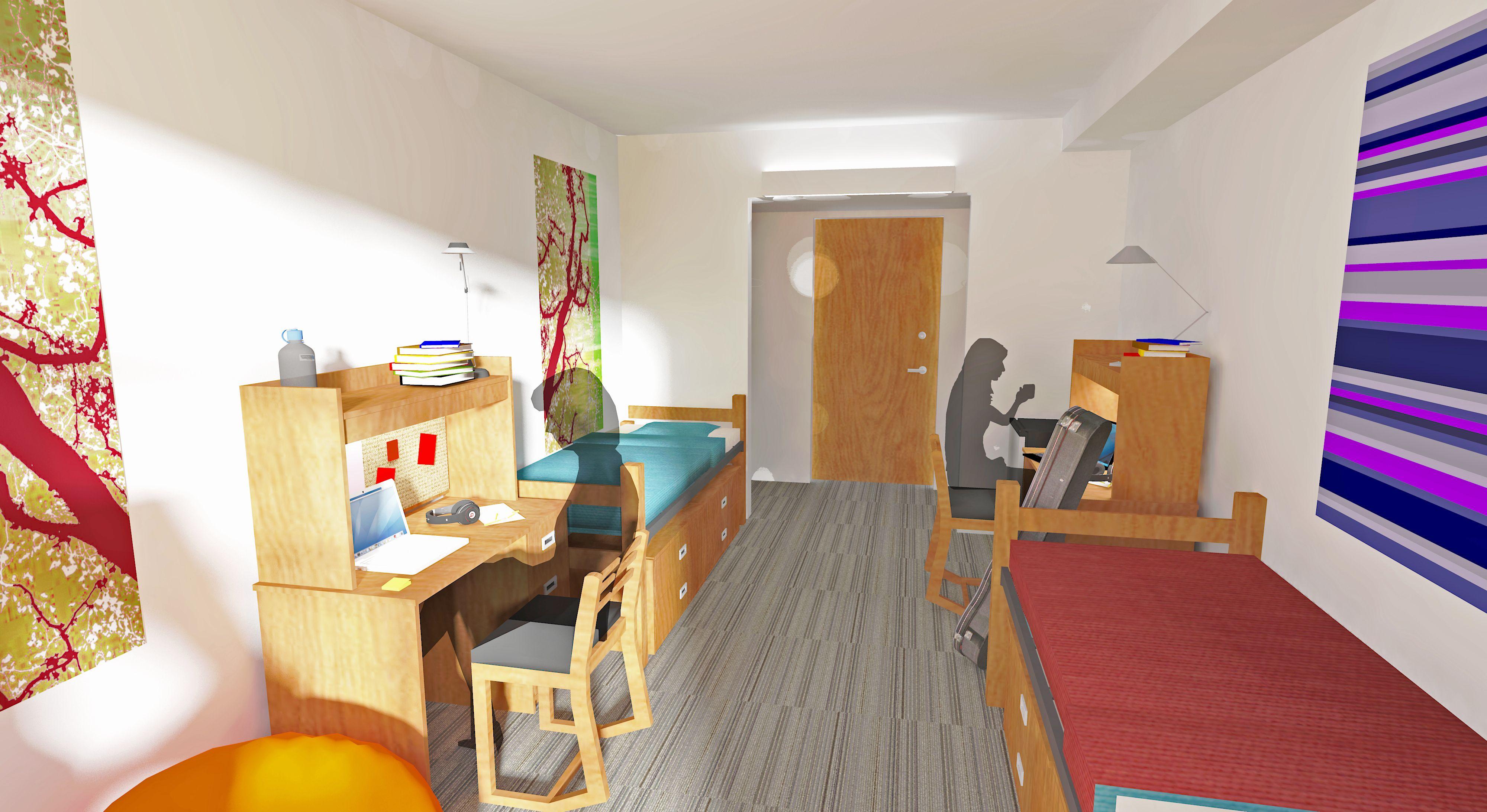 2013 02 08 Dorm Room Rendering ALT VIEW 4,000×2,186 Pixels Part 36