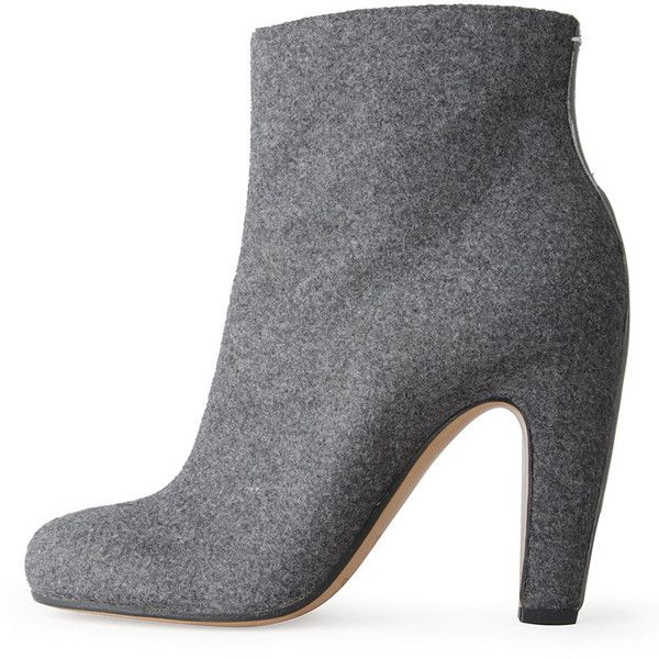 Maison Martin Margiela Line 22 Wool Ankle Boot found on Polyvore