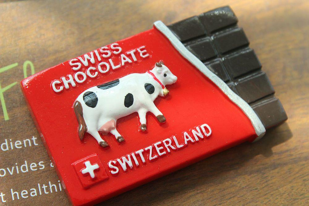 Souvenir Neuheit Kühlschrank Magnet Sehenswürdigkeiten // Schweiz