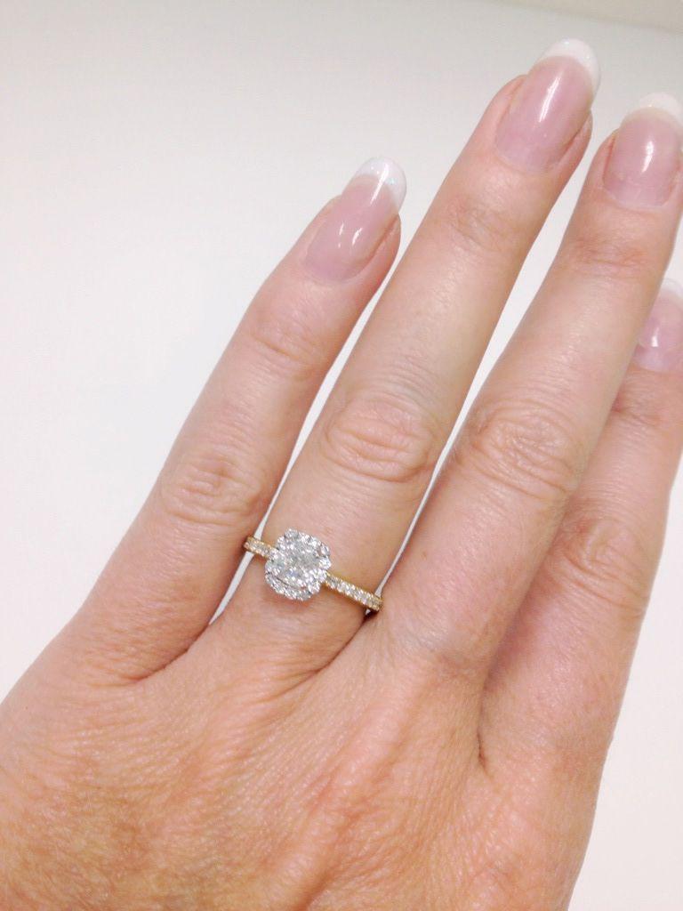 Diamond halo engagement ring by Diamonds International #love ...