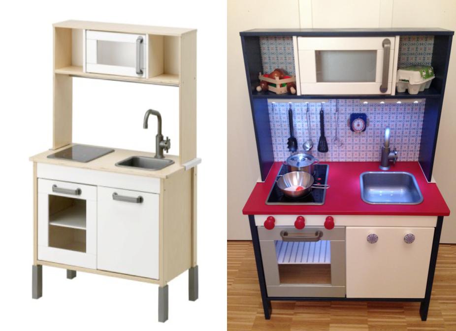 ikea duktig kitchen hack make over nordic dutch style with led lamps kids bedroom. Black Bedroom Furniture Sets. Home Design Ideas