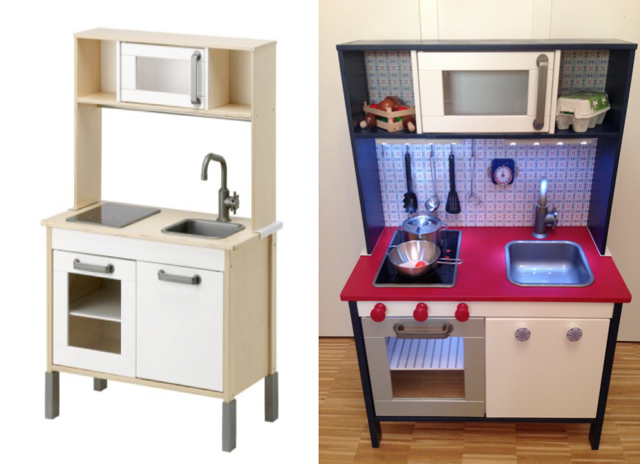 Ikea Duktig Kitchen Hack, Make-over. Nordic/Dutch Style with LED ...