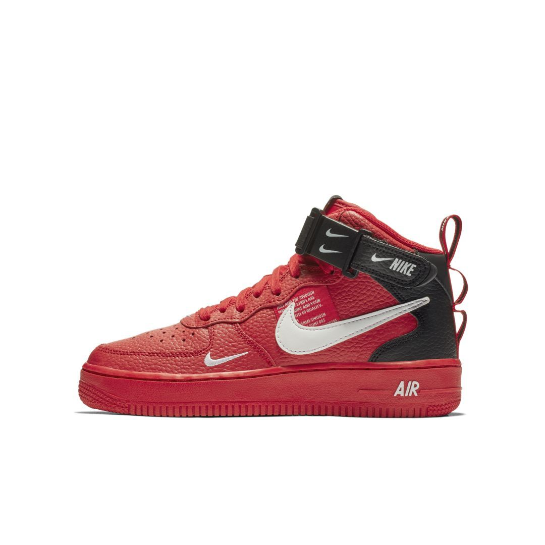 new arrival ee662 1ea1c Nike Air Force 1 Mid LV8 Big Kids  Shoe Size 4.5Y (University Red)