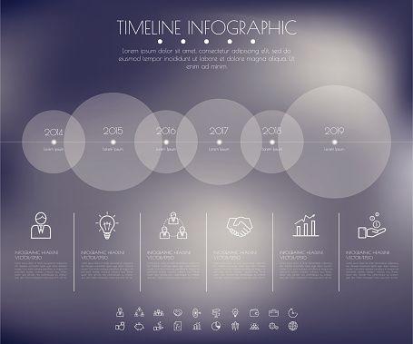 Vektorgrafik  Timeline Circles Infographic Flat Vector design - timeline website template