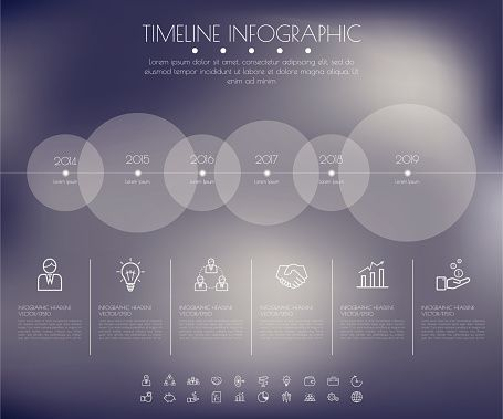 Vektorgrafik  Timeline Circles Infographic Flat Vector Design