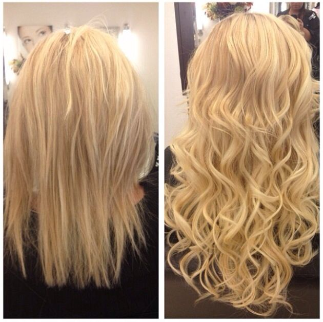 Blonde Locks Hair Extensions Before And After Long Hair Dont Care