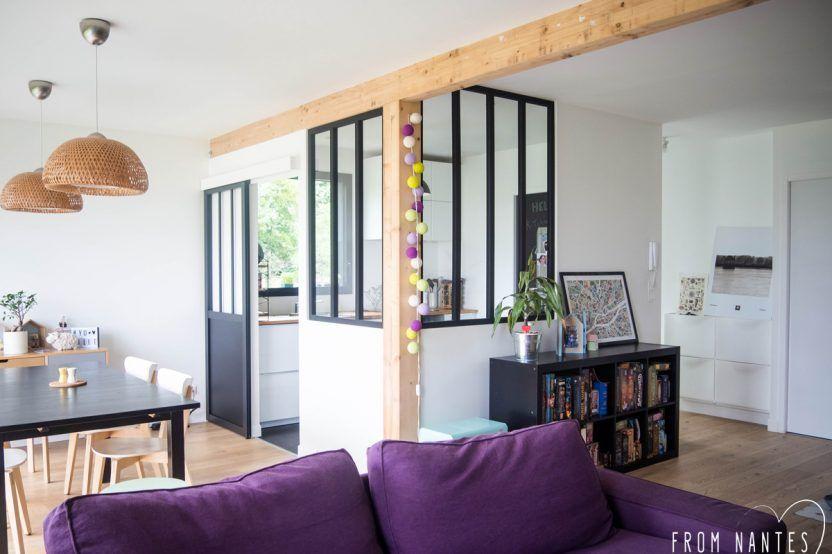 DIY u2013 Une verrière style atelier (et pas chère) pour séparer ma - salon sejour cuisine ouverte