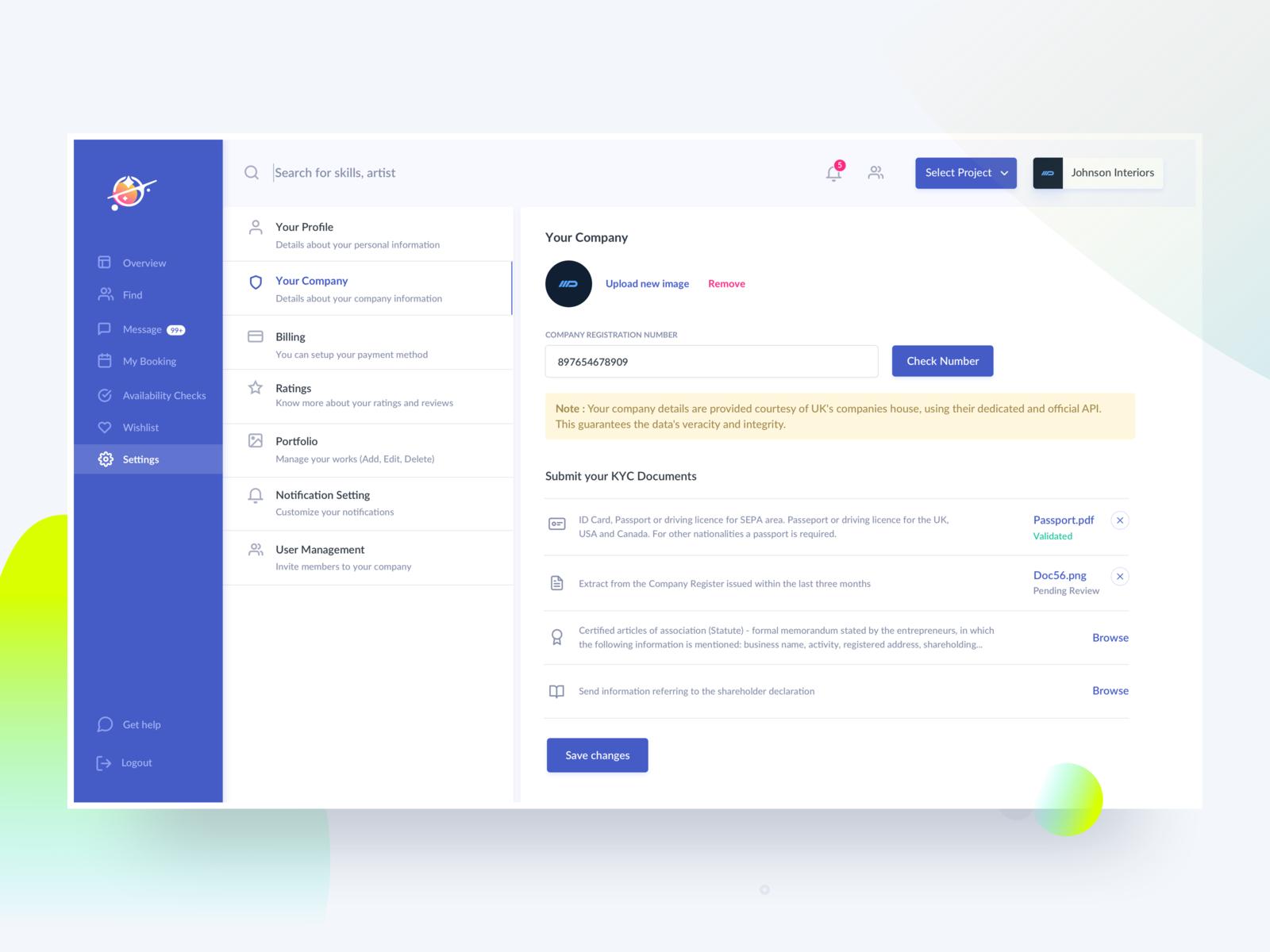Company Profile Kyc Company Profile Profile Website Web Design