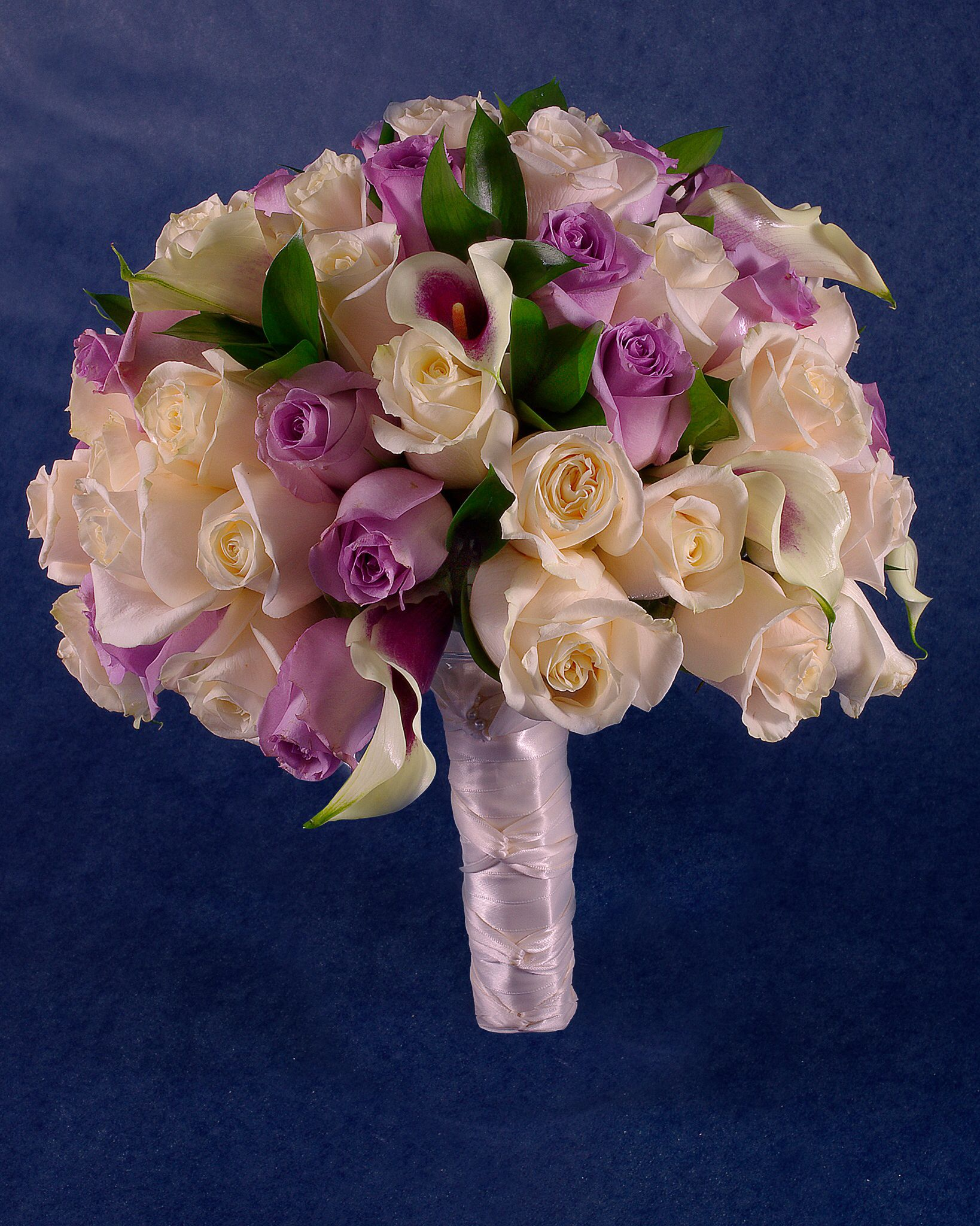 Calla lilies and rose purple lavender and white brides bouquet calla lilies and rose purple lavender and white brides bouquet made by forget izmirmasajfo