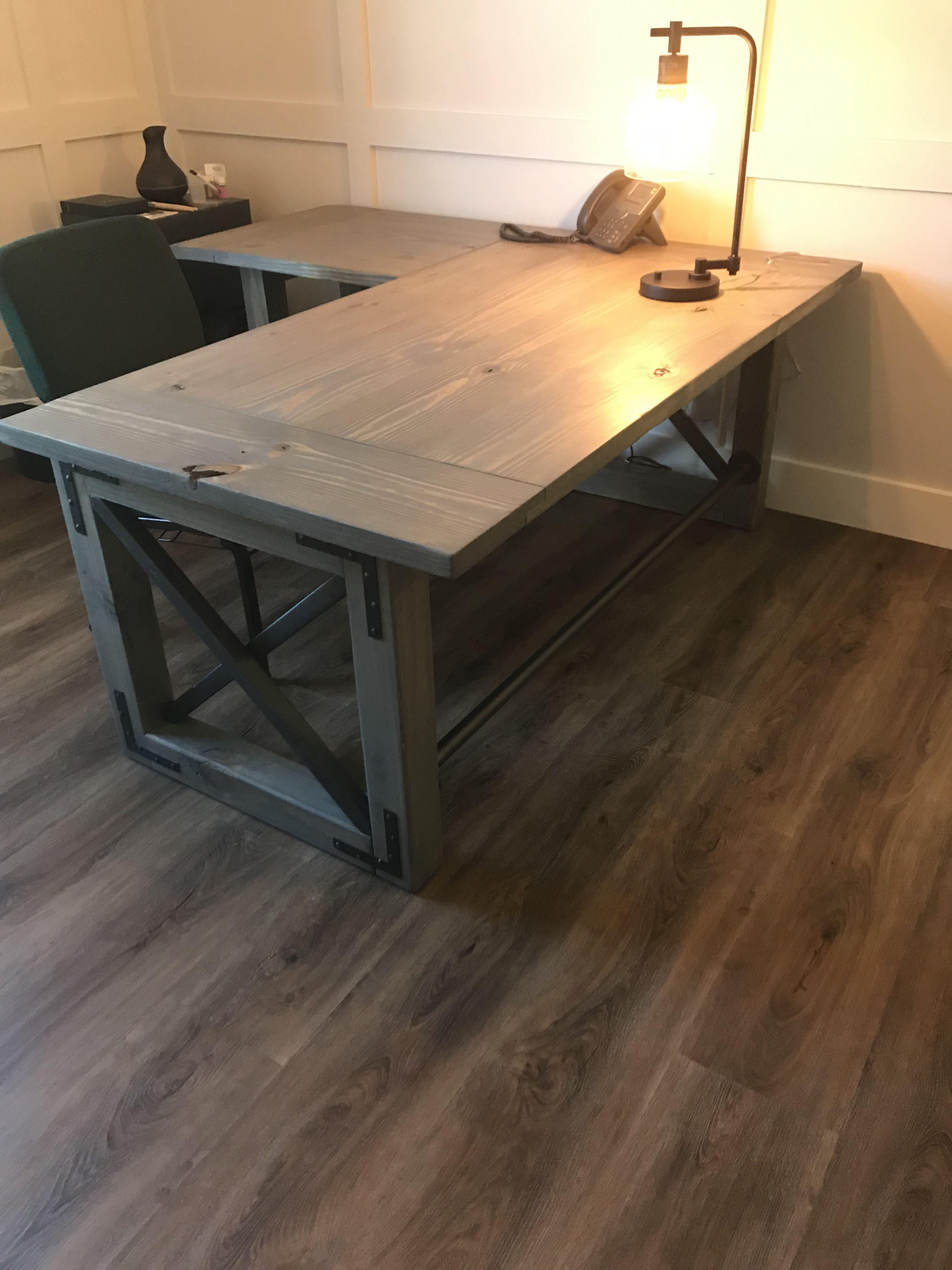 L Shape Office Desk Diy Corner Desk Home Desk Rustic Office Desk