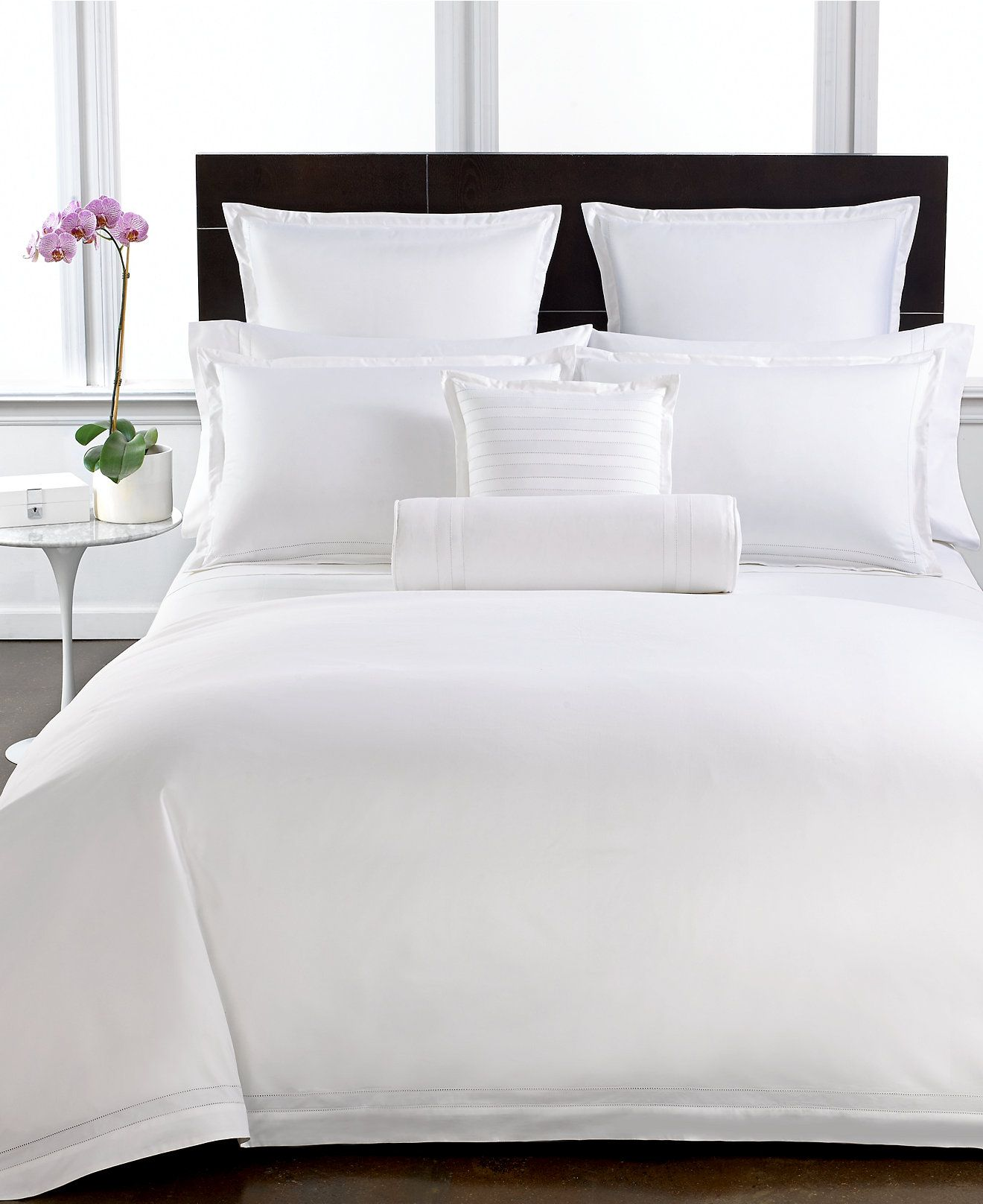 white bed sheets. Hotel Collection 800 Thread Count Egyptian Cotton European Sham - Bedding Collections Bed \u0026 Bath White Sheets